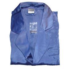 100% Pure Silk Men's Sleepwear Short Sleeve Shirt & Boxer Brief Size L Blue