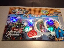 New 5 pk Marvel Avengers Light Up Yazzles Sticker Badges Party Favors Halloween