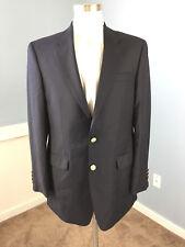 Ralph Lauren 40 L 100% wool Navy blue Classic Sport Coat Jacket Excellent