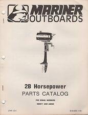 1980 MARINER OUTBOARD 2B HP PARTS MANUAL M-90-92585 (380)