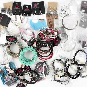 Paparazzi Costume Jewelry Lot of 40 Pieces Bracelets Earrings Necklaces Sets