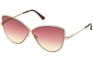 Tom Ford FT0569 28T Elise Rose Gold Butterfly Sunglasses