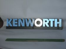 "NEW GENUINE CHROME KENWORTH TRUCK 14"" WORDMARK EMBLEM NAME PLATE METAL LOGO"