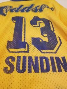 MATS SUNDIN #13 Team Sweden 90's Vintage Hockey Jersey size XL ODDSET Light Mesh