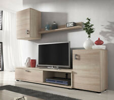Anbauwand Harris Wohnwand Wohnzimmer-Set Modern Mediaschrank Sonoma Neu M24