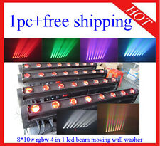 1pc 8*10W RGBW 4 in 1 Led Beam Moving Bar Led DJ Wall Wisher Free Shipping