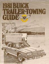 Buick Towing 1981 USA Market Brochure Century Regal LeSabre Electra Riviera