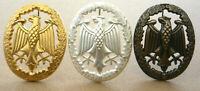 6x Leistungsabzeichen Bundeswehr KONVOLUT GOLD SILBER und BRONZE 55x43mm Uniform