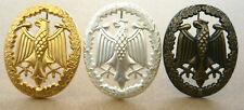 3x Leistungsabzeichen Bundeswehr KONVOLUT GOLD SILBER und BRONZE 55x43mm Uniform