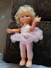 "Estrela Wind Up Twirling Ballerina Blonde Hair Doll 10"" WORKS Ballet Dancer"