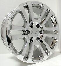 "CK 158 - New 20"" Chevy Split Spoke Chrome Wheels Rims Silverado Tahoe Suburban"