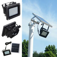 LED Solar Power Wall Light Garage Light Outdoor Garden Security Flood Light Lamp