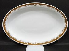"Bristile / Wembley ware - Platter vgc (9 3/8"") brown band & zigzag line"