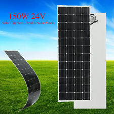 150 Watt 24 Volt Elfeland Semi Flexible Solar Panel Off Grid For Home RV Boat