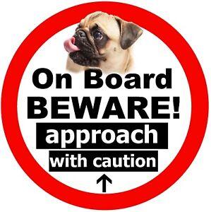Carlin Sur Board - Fun Voiture Fantaisie / Fenêtre Autocollant (Beware + 1
