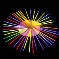 100pcs Neon Colors Glow Sticks Bulk Party Bag Necklace Bracelets Disco DIY mnb