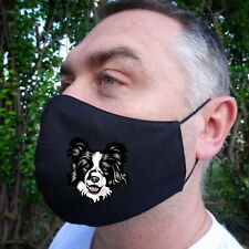 Border Collie Dog Lovers Face Mask 100%Cotton Double Layer New Great Fit
