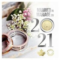 Wedding 5-Coin Gift Card Set (2021) $2, 25¢, 10¢, 5¢ & Special $1 - [In-Stock]