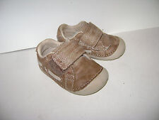 STRIDE RITE SKIP BABY BOYS SHOES size 3 M BROWN LEATHER VERY CUTE