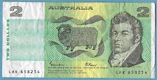 Australian 1985 $2 Two Dollars Johnston Fraser Note LHK658254