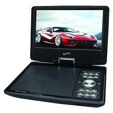 "Supersonic SC-259 Portable DVD CD MP3 Player 9"" Swivel TV Tuner USB/S DNew"