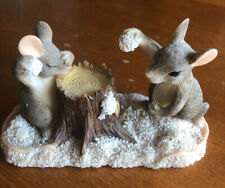 Charming Tails Dean Griff Silvestri Snowball Fight 87/570 Mouse Mice Figurine