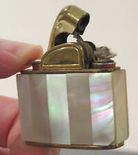 Vintage Antique Pearlescent Small Pocket Cigarette Lighter, lift arm