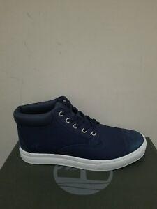Timberland Men's  Dauset Cup Fabric & Leather Chukka Dark Navy Shoes NIB