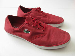Women's LACOSTE 'Gambetta' Sz 6.5 US Casual Shoes ExCon Red | 3+ Extra 10% Off