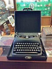 Vintage Remington Rand Deluxe Model 5 Portable Typewriter - A