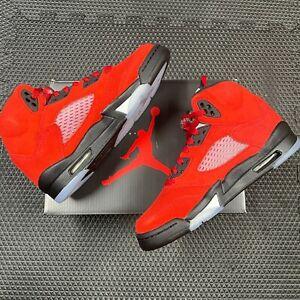 Nike Air Jordan 5 Retro Raging Bull Red Black Toro Bravo Size 4Y-6Y 440888-600