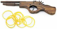 """Handmade Solid Wooden Rubber Band Gun With Clothes Pins 12"""" Length"""