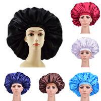 Extra Large Satin Sleep Cap Waterproof Shower Cap Women Hair Treatment Hair HaMR