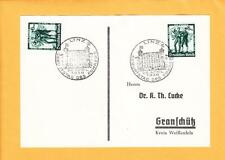 Nazi Germany Hitler 20.4.1938 Birthday Card One Day Only Anschluss Linz i