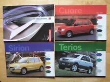 DAIHATSU Range orig 1999 2000 UK Mkt brochure + leaflets - Sirion Terios Cuore