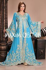 DUBAI VERY FANCY KAFTANS abaya jalabiya Ladies Maxi Dress New Wedding gown 4457