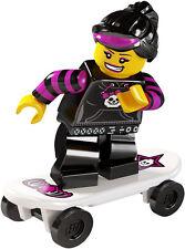 Lego minifig series 6 SKATER GIRL goth emo punk rave