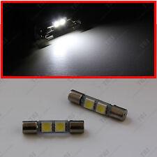 4x Bright White 2-SMD 12V LED Bulb for Sun Visor Vanity Mirror Lights Fuse Shape
