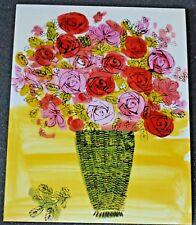 Andy Warhol Vase of Flowers Postcard new