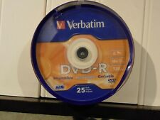 Verbatim #95058  DVD-R Discs, 4.7GB, 16x, Spindle, Matte Silver, 25/Pack