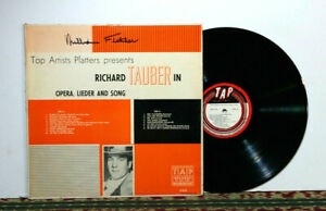 Richard Tauber – In Opera, Lieder And Song, 1958 LP - Opera - EX Vinyl
