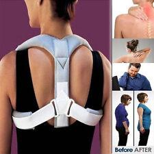 Therapy Adjust Posture Shoulder Corrector Back Support Brace Belt Band Spine UK