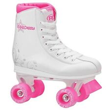 Roller Derby Roller Star 350 Girls Quad Skate Size 6 White/Pink NEW