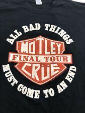 Motley Crue The Final Tour Concert Shirt Alice Cooper Men's 2XL XXL 2015 Rare