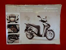 GENUINE 2009 HONDA SH125 SH125R SH150 SH150R OWNERS MANUAL 37KTFH11 2010 SH 125