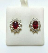 Natural Yellow Gold Ruby Fine Earrings