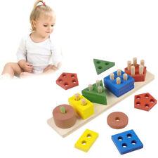 Childrens Wooden Educational Preschool Toddler Toys for Boys Girls Learning Toy