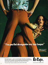 PUBLICITE ADVERTISING 104  1974  LEE COOPER  pantalons pret à porter
