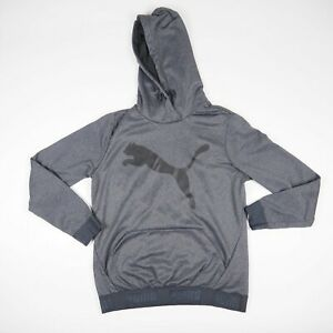 PUMA Big Logo Gray Pullover Sweater Sweatshirt Kid's/Youth Size Large