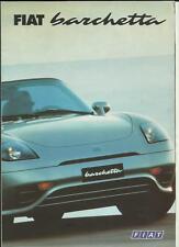 FIAT BARCHETTA SALES BROCHURE marzo 2000